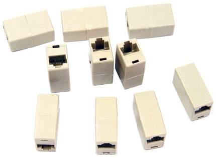Модули RJ-45 - RJ-45 проходной, кат, 5e, VCOM <VTE7713 >, 10шт в пакете