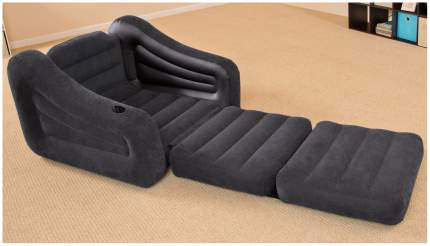 Надувное кресло-трансформер Intex Pull-Out Chair (109х218х66 см) с68565 Черный