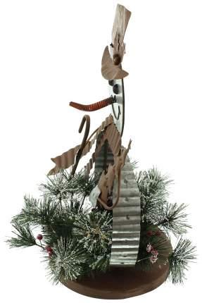 Световая фигура Frank Снеговик с еловой композицией 06568