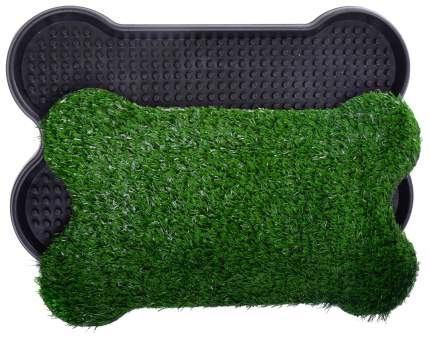 Лоток для собак Pet Potty Bone Shape с искусственной травкой