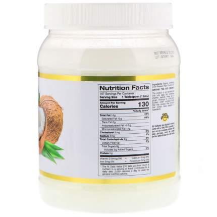 Органическое кокосовое масло California Gold Nutrition 1,6 л