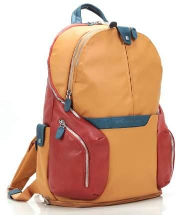 Рюкзак кожаный Piquadro Coleos кожаный желтый
