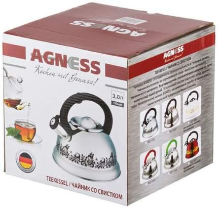 Чайник Agness Красный Узор 907-063
