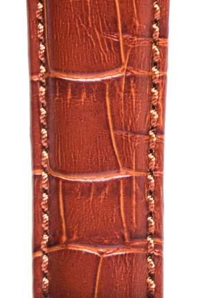 Ремешок для часов с фактурой под аллигатора Signature светло-коричневый 18 mm short