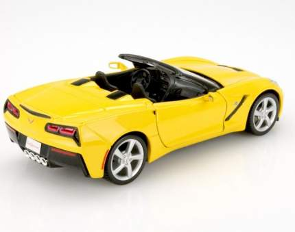"Maisto ""Машинка жёлтая Chevrolet Corvette Stingray Convertible 2014г 1:24"""