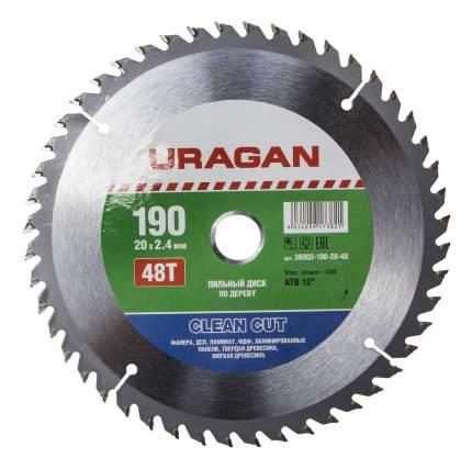 Пильный диск по дереву  Uragan 36802-190-20-48