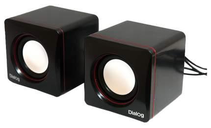 Колонки для компьютера Dialog Colibri AC-04UP 6W USB черно-красные