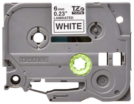 Лента для печати наклеек Brother TZe-211 Black on white 6 мм