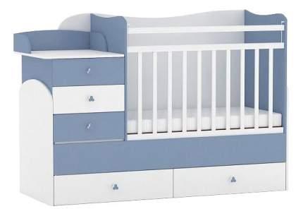 Кровать-трансформер Фея 1400 бело-синяя