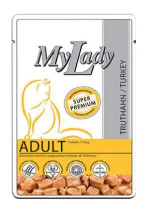 Влажный корм для кошек Dr. Alder's My Lady Adult, с мясом индейки, 24шт по 85г