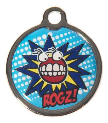 Медальон на ошейник ROGZ FancyDress IDM20BX S, 20 мм, голубой