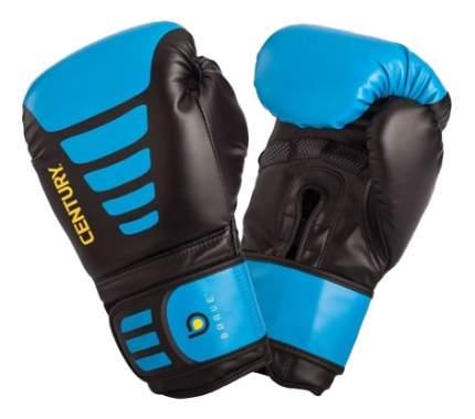 Боксерские перчатки Century Brave черные/голубые 14 унций