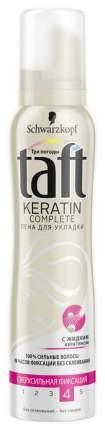 Средство для укладки TAFT Пена Keratin Complete с сверхсильной фиксацией 150мл