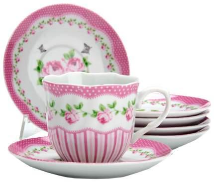 Чайный сервиз LORAINE цветы 25916