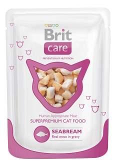 Влажный корм для кошек Brit Care, рыба, 80г
