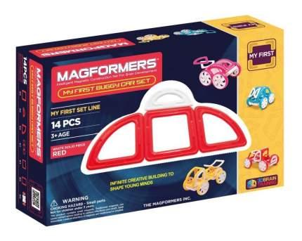 Конструктор магнитный Magformers My First Buggy red
