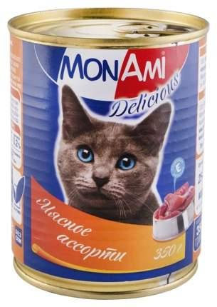 Консервы для кошек MonAmi Delicious, мясо, 350г