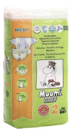 Подгузники для новорожденных Muumi Baby Newborn (3-6 кг), 58 шт.