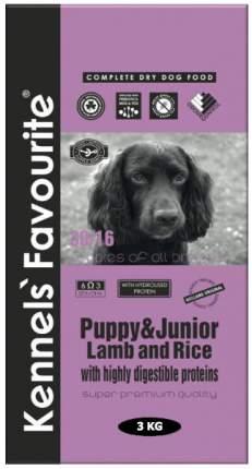 Сухой корм для щенков Kennels Favourite Puppy and Junior, ягненок, рис, 3кг
