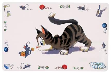 Trixie Коврик под миску Comik Cat для кошек, 44х29 см