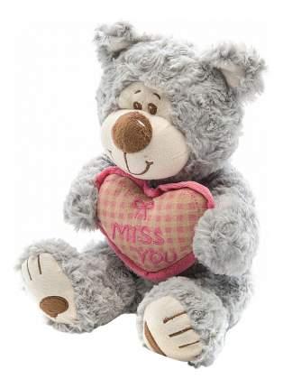 Мягкая игрушка Fluffy Family Мишка Митя с сердцем серый 25 см 681146