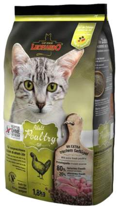 Сухой корм для кошек Leonardo Adult Poultry GF, беззерновой, курица, 1,8кг