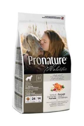 Сухой корм для собак Pronature Holistic Adult, индейка, 13.6кг