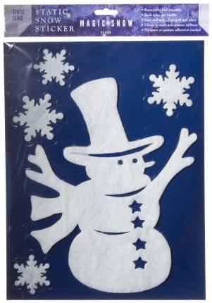 Наклейки новогодние Peha Снеговик в Высоком Цилиндре 40x30 см
