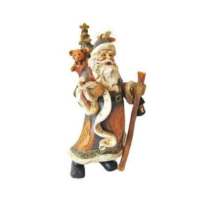 Елочная игрушка Дед Мороз с Мишкой и Елочкой 13 см, подвеска 3D1104