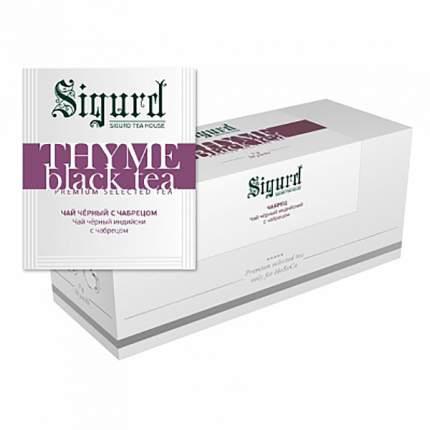 Чай черный Sigurd thyme black с чабрецом 30 пакетиков