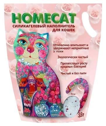 Наполнитель HOMECAT силикагелевый 3,6 л 1,8 кг Роза