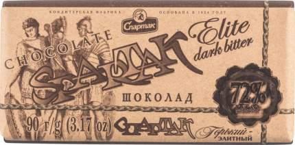 Шоколад горький Спартак элитный 72% 90 г