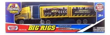Грузовик с полуприцепом желтый MotorMax hms/ast76128