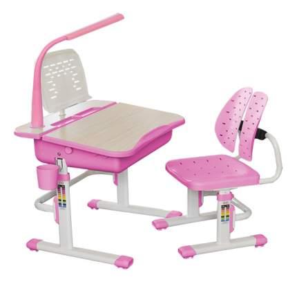 Комплект детской мебели Mealux Парта и стул EVO-03 с лампой розовый
