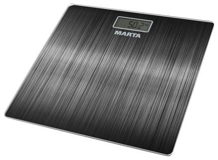 Весы напольные MARTA MT-1677 Черный алюминий