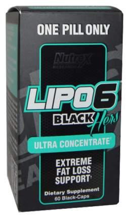 Жиросжигатель Nutrex Lipo 6 Black Hers Ultra Concentrate, 60 капсул