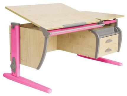 Парта Дэми СУТ 17-05Д2 с двумя двухъярусными задними и боковой приставками Розовый 120 см
