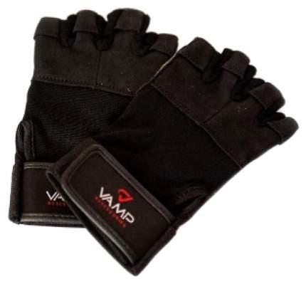 Перчатки для тяжелой атлетики и фитнеса VAMP 530, черные, XL