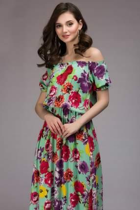 Платье женское 1001dress DM00790MN зеленое 42 RU