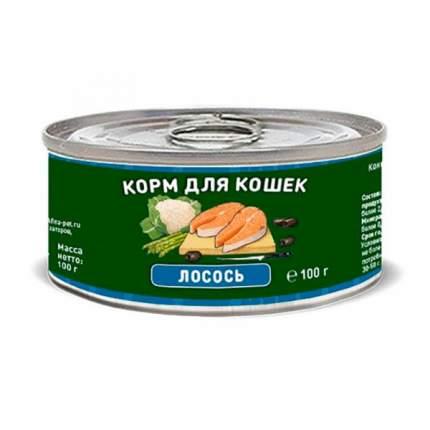 Консервы для кошек и котят SOLID NATURA, беззерновой, лосось, 100 г