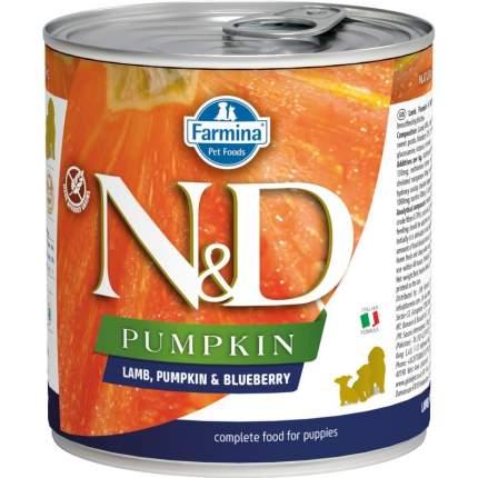 Влажный корм для собак Farmina N&D Pumpkin, ягненок, тыква и черника, 285г