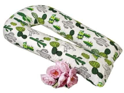 Подушка WB для беременных AmaroBaby U-образная 340х35 (Кактусы)