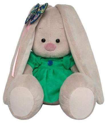 Мягкая игрушка BUDI BASA Зайка Ми в зелёном платье с бабочкой, 18 см
