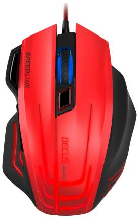 Проводная мышка SPEED-LINK Decus Respec Red/Black (SL-680005-BKRD)
