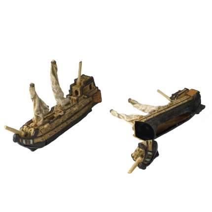 Декорация для аквариума AQUA DELLA Корабль магнит 1, полиэфирная смола, 12х17,5х22,5 см