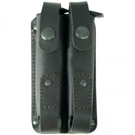 Чехол Tiger для 2-х магазинов ( обойм ) АПС с кнопкой кожаный черный