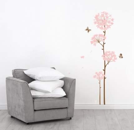 """Виниловая наклейка на стену Home-decors """"Розовые цветочные шарики"""" 60х80см  SS58242"""