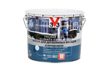 Краска V33 Facade Bois Climats Extremes для деревянных фасадов и интерьеров 9 л белая