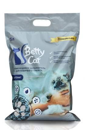 Комкующийся наполнитель для кошек Betty Cat, силикагелевый, активированный уголь, 5л