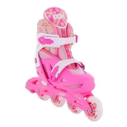 Раздвижные роликовые коньки RGX Flamingo pink M 34-37